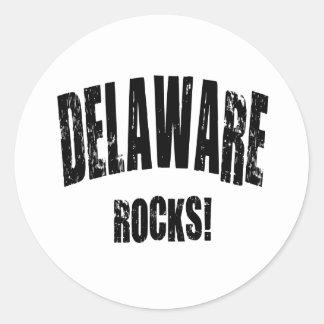 ¡Rocas de Delaware! Etiquetas Redondas