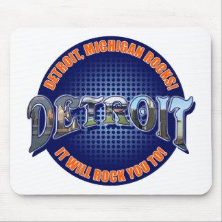 ¡Rocas de Detroit Michigan ¡Le oscilará a Alfombrillas De Raton