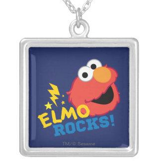 Rocas de Elmo Collar Plateado