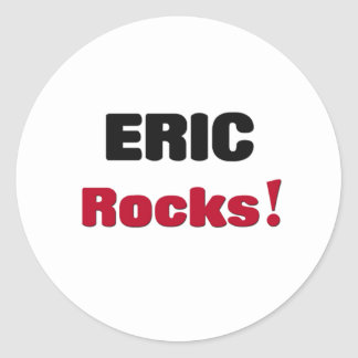 Rocas de Eric Pegatina Redonda