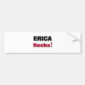 Rocas de Erica Pegatina De Parachoque