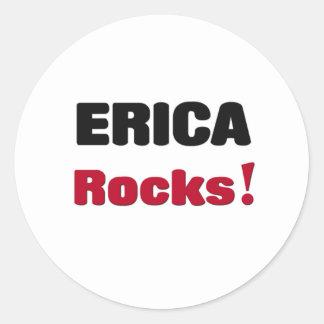 Rocas de Erica Pegatina Redonda
