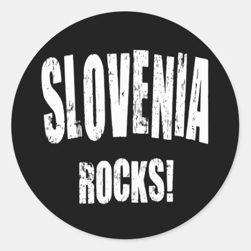 ¡Rocas de Eslovenia! Pegatinas Redondas