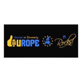 ¡Rocas de Europa! tarjeta del estante Diseño De Tarjeta Publicitaria