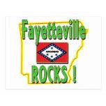 ¡Rocas de Fayetteville! (verde) Postales