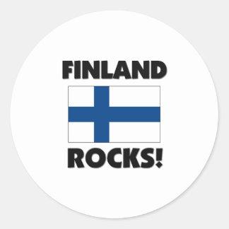 Rocas de Finlandia Etiquetas Redondas