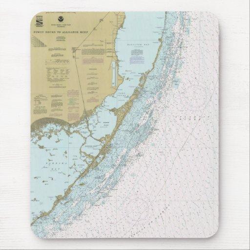 Rocas de Fowey al cojín de ratón de la carta de FL Tapetes De Ratones