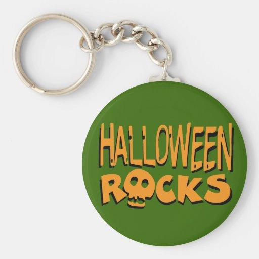Rocas de Halloween Llavero Redondo Tipo Pin