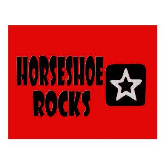 Rocas de herradura (rojo, negro, blanco) tarjeta postal