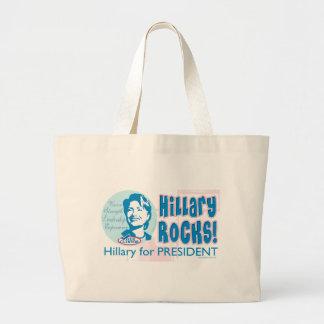 ¡Rocas de Hillary! Hillary para presidente Bag Bolsas Lienzo