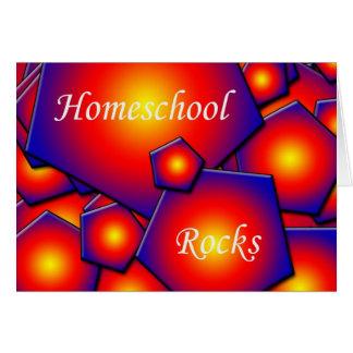 Rocas de Homeschool Tarjeta De Felicitación