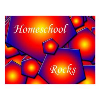 Rocas de Homeschool Tarjeta Postal