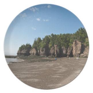 Rocas de Hopewell y la exploración de marea del oc Plato De Cena