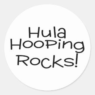 Rocas de Hula Hooping Pegatina Redonda
