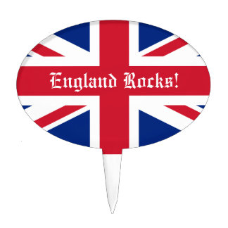 ¡Rocas de Inglaterra! - Bandera BRITÁNICA Decoraciones Para Tartas