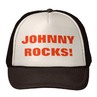 ¡ROCAS DE JOHNNY! GORRO DE CAMIONERO