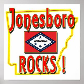¡Rocas de Jonesboro rojo Poster