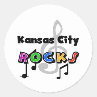 Rocas de Kansas City Pegatina Redonda