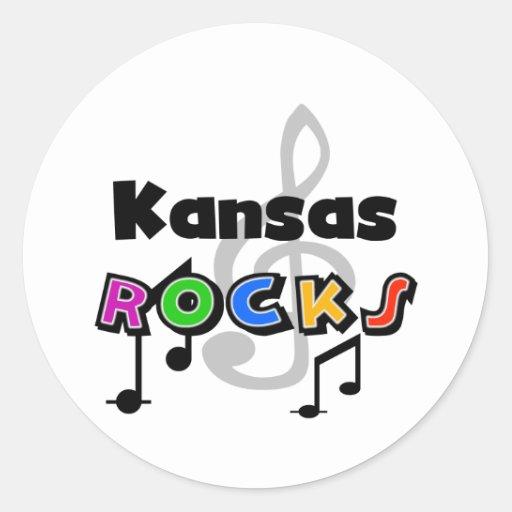 Rocas de Kansas Etiqueta Redonda