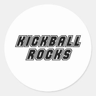 Rocas de Kickball Etiqueta Redonda