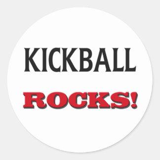 Rocas de Kickball Etiquetas Redondas