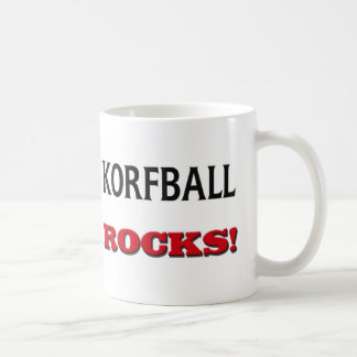 Rocas de Korfball Taza De Café