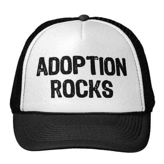 Rocas de la adopción gorros bordados