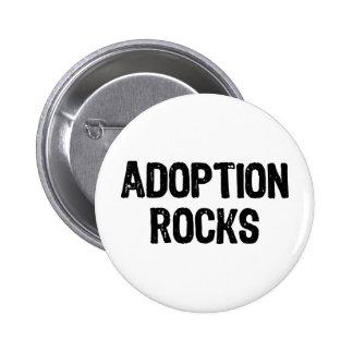Rocas de la adopción pin redondo 5 cm