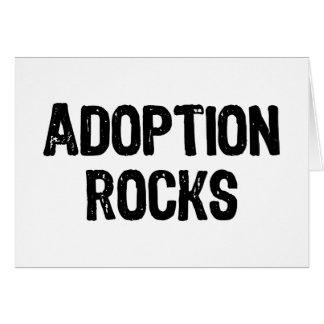 Rocas de la adopción tarjeta de felicitación