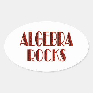 Rocas de la álgebra pegatina ovalada