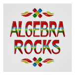 Rocas de la álgebra poster