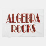Rocas de la álgebra toallas de cocina