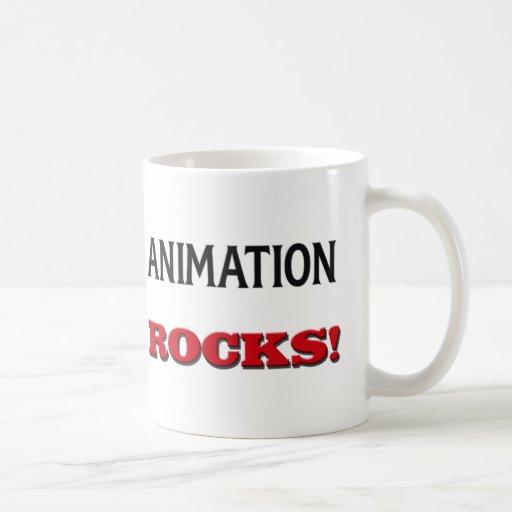 Rocas de la animación taza de café
