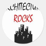 Rocas de la arquitectura pegatinas redondas
