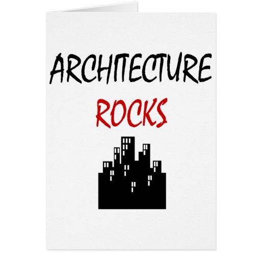 Rocas de la arquitectura tarjeton