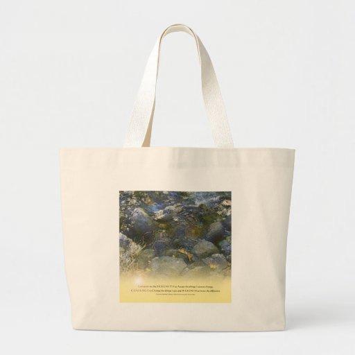 Rocas de la cala del rezo de la serenidad bolsa tela grande