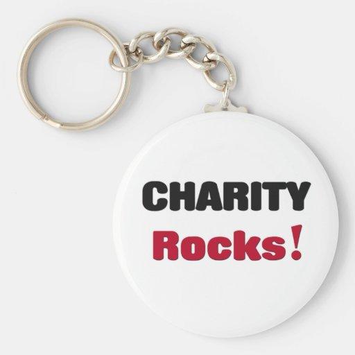 Rocas de la caridad llavero redondo tipo pin