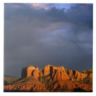Rocas de la catedral en Sedona Arizona Azulejo Cuadrado Grande