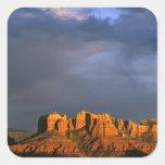 Rocas de la catedral en Sedona Arizona Calcomania Cuadradas Personalizadas