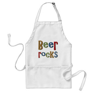 Rocas de la cerveza delantal