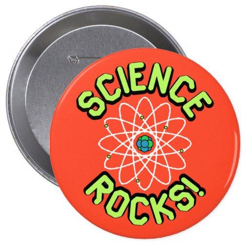 ¡Rocas de la ciencia! Botones Pins
