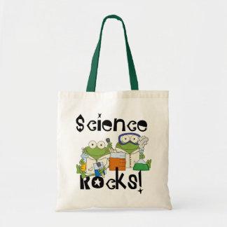 Rocas de la ciencia de las ranas bolsa tela barata