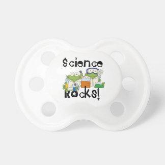 Rocas de la ciencia de las ranas chupetes para bebes