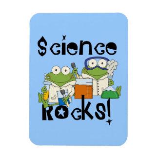 Rocas de la ciencia de las ranas iman de vinilo