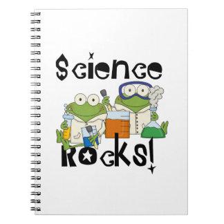 Rocas de la ciencia de las ranas cuadernos