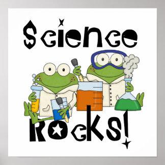 Rocas de la ciencia de las ranas póster