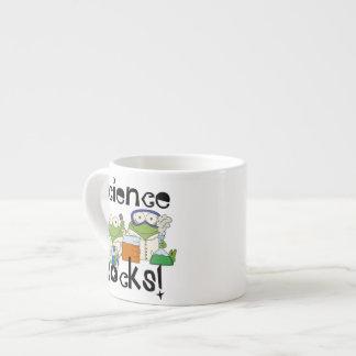 Rocas de la ciencia de las ranas taza espresso