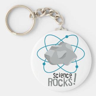 ¡Rocas de la ciencia! Llavero Redondo Tipo Pin