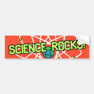 ¡Rocas de la ciencia! Pegatina para el parachoques Pegatina Para Auto