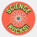 ¡Rocas de la ciencia! Pegatinas Etiquetas Redondas